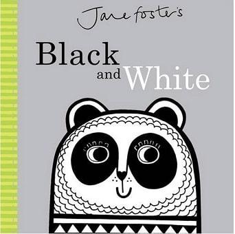 black and white baby book for newborn development