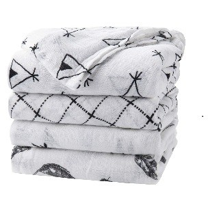 black and white muslin swaddle blankets for baby