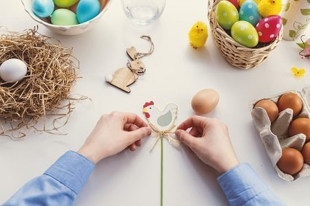 child doing Easter Craft for kids