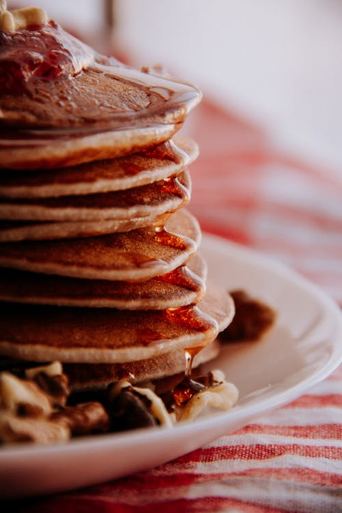 Easter brunch to celebrate Easter. Make a big stack of pancakes.