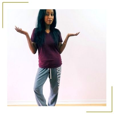 mom postpartum fashion before stylist is sweat pants