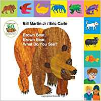 Brown bear Brown Bear Book cover with collage style art of brown bear