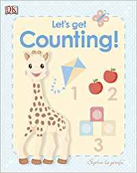 Sophie the giraffe book cover with number blocks