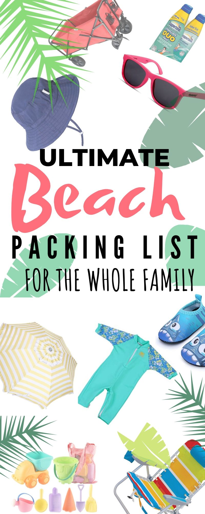 Ultimate Beach Packing List Collage