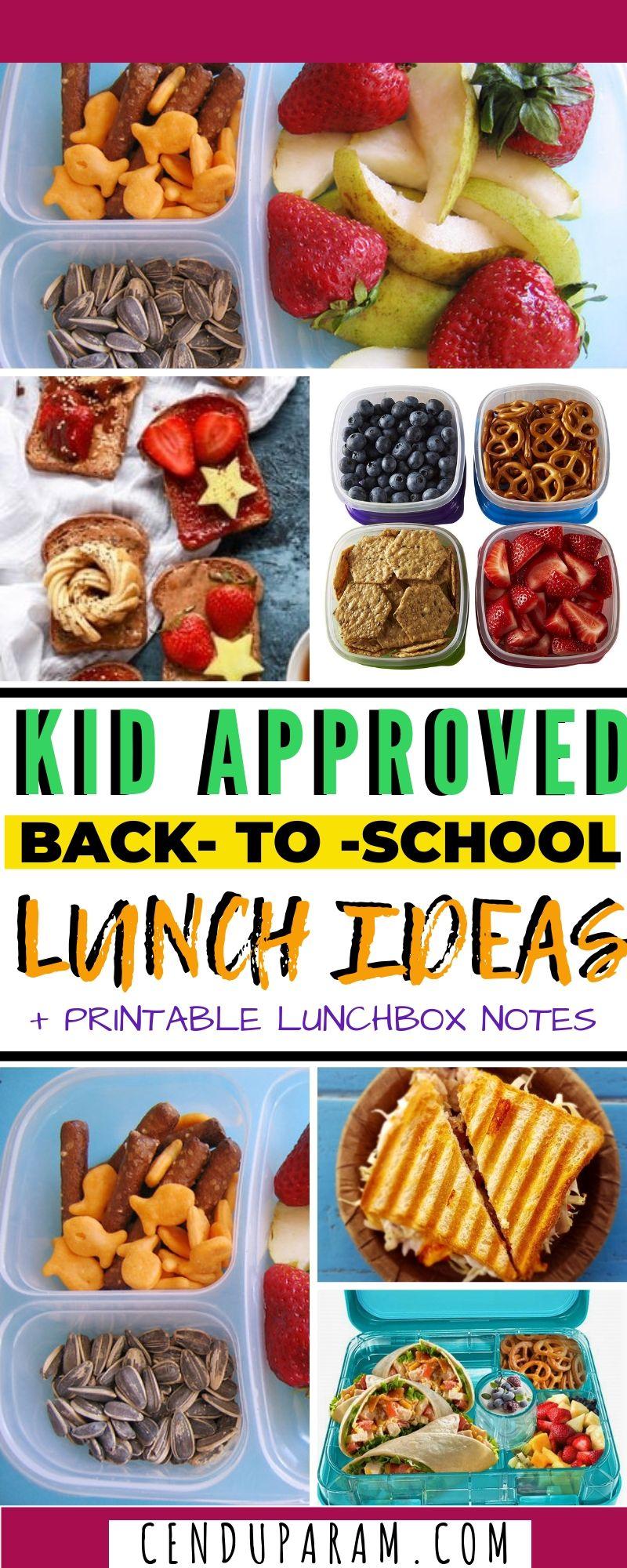 Kids lunch ideas for school