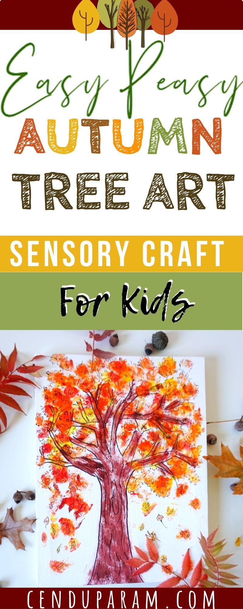Autumn Tree Art Sensory Craft for children