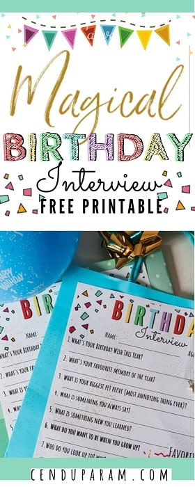 printable birthday interview questionnaire