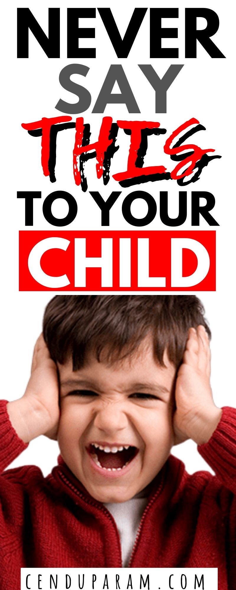 child covering his ears and screaming