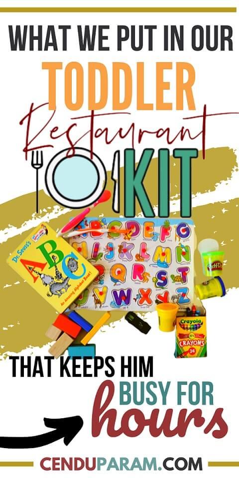 toddler restaurant survival kit