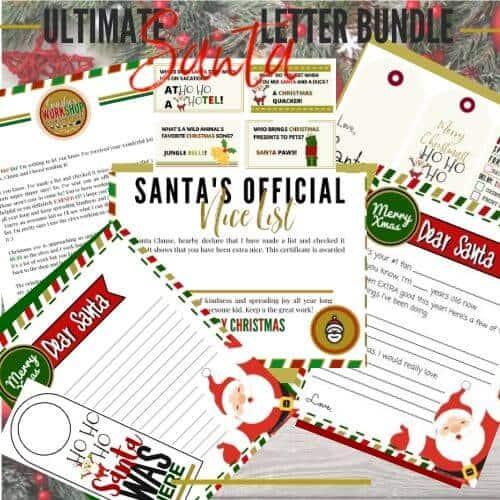 send a letter to santa templatae