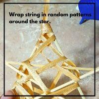 twine star ornament craft