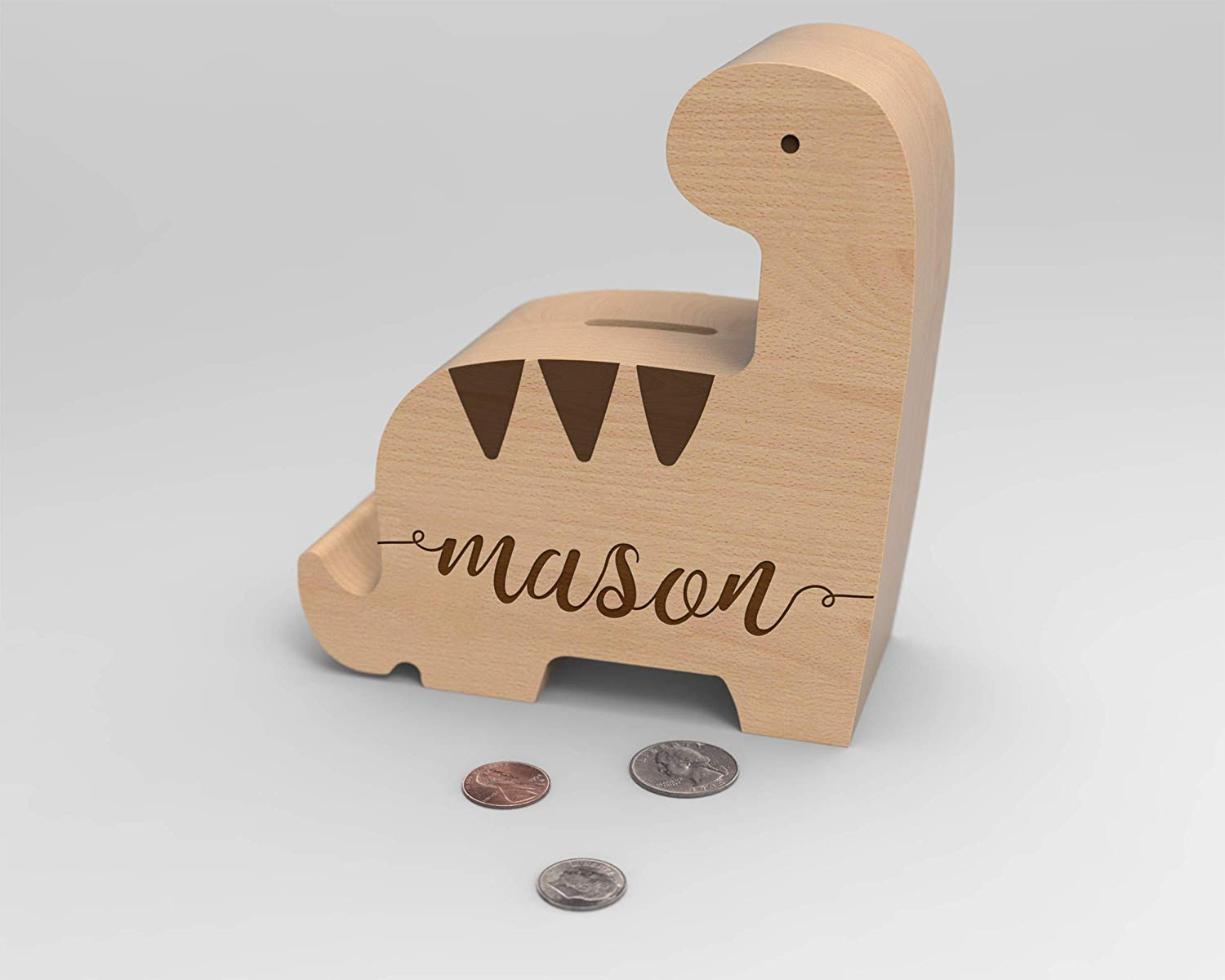 piggy bank with child's name