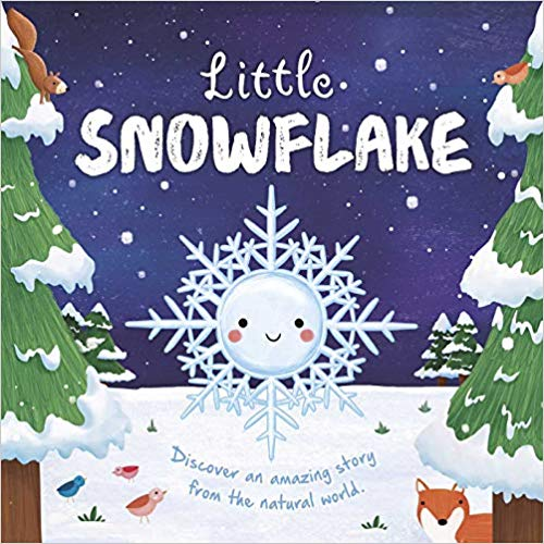 little snowflake book with smiling snowflake