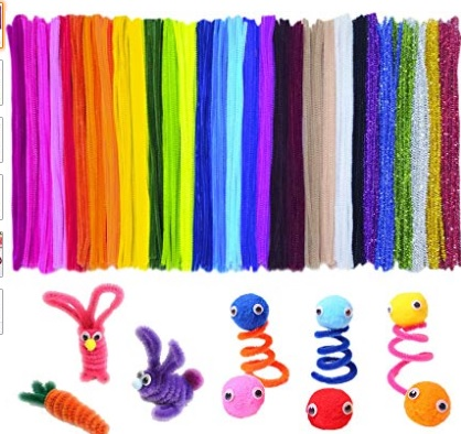 colorful pipe cleaners
