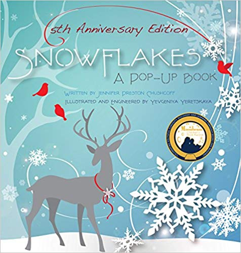 pop up book snowflakes