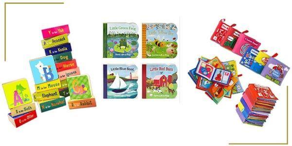 toddler soft books, abcs and flap books for restaurant kit