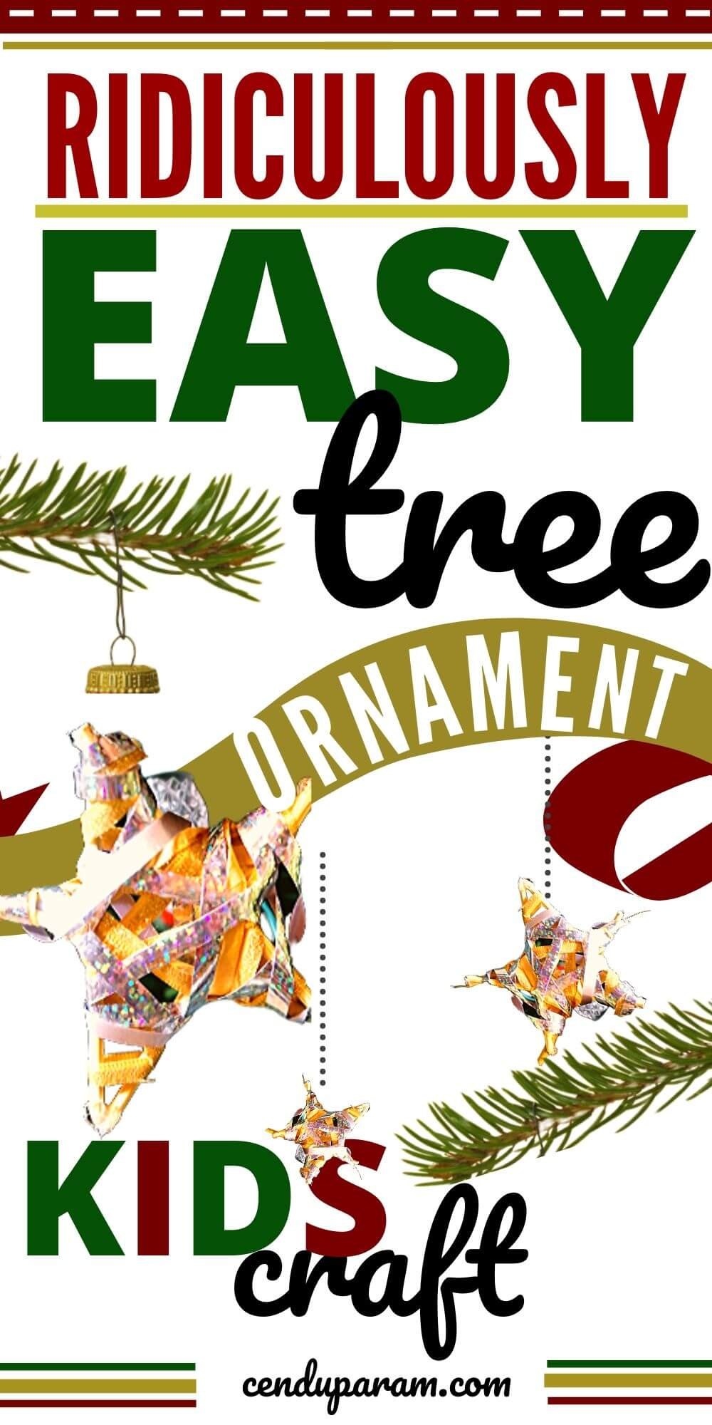 very easy tree ornament craft that kids can make.
