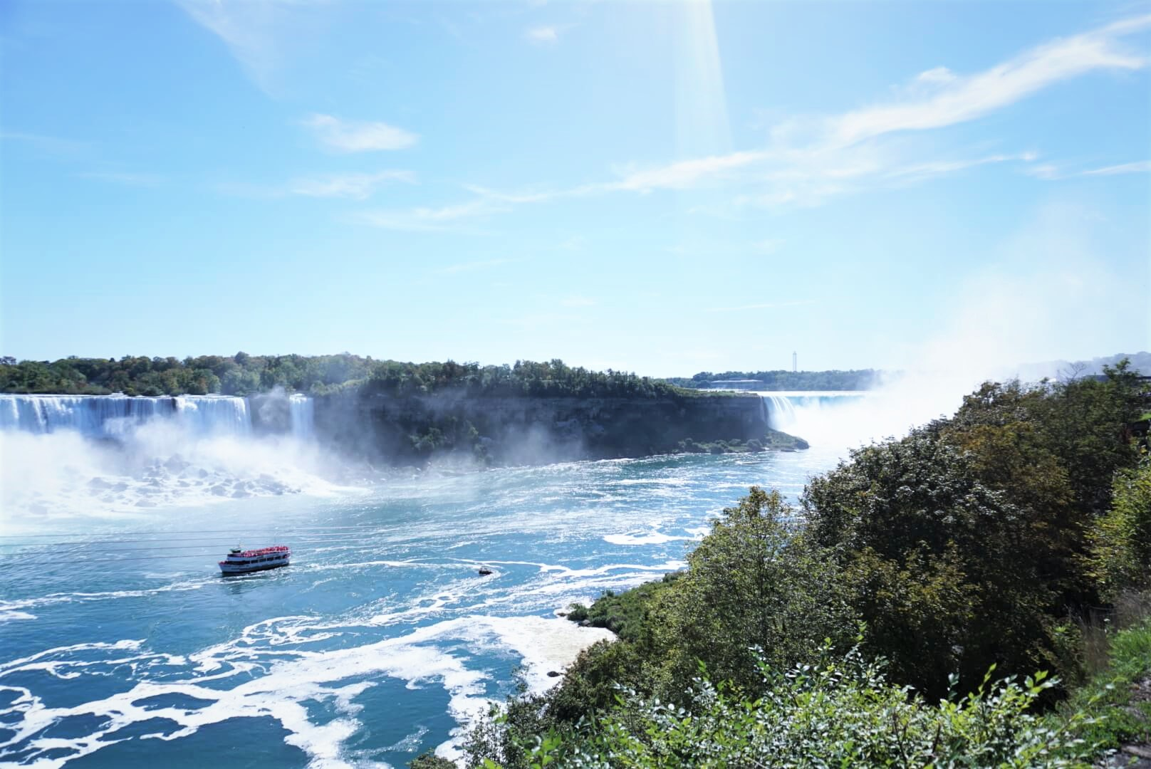 Hornblower cruise at Niagara Falls is safe for baby, toddler and kids.