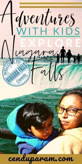 mom and baby at niagara falls