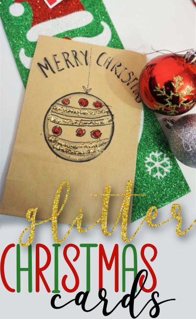 handmade Christmas cards toddlers can make