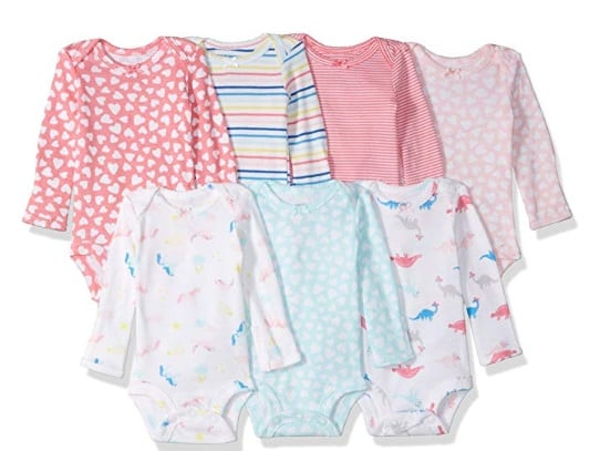 baby girls long sleeved onesies for cold weather