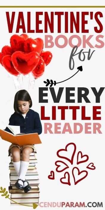 little girl reading Valentine's Day Books for kids