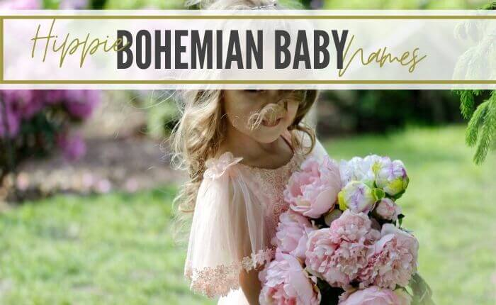 bohemian baby girl with flower crown