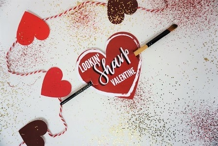 candy free valentine for kids- pencil