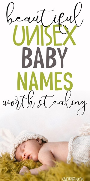 cute sleeping baby with title badass unisex baby names