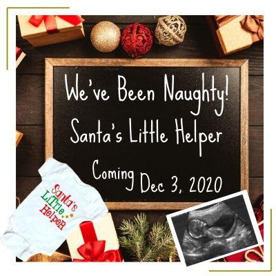 chalkboard message christmas pregnancy annoucement idea