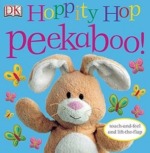 Easter bunny on cover of toddler Easter book