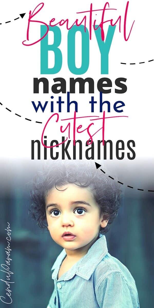 cute baby boy with cute nickname