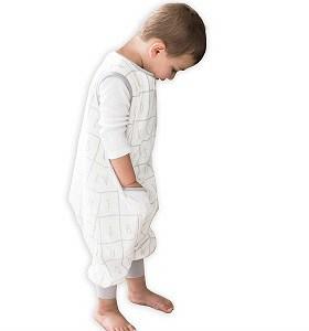 toddler boy wearing tealbee dreamsuit wearable blanket