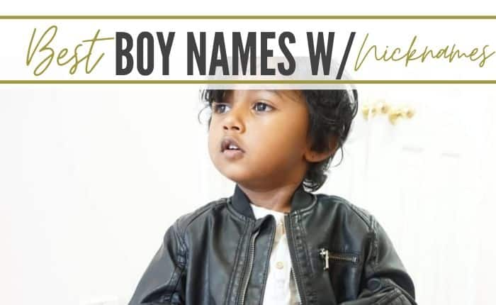 boy with name and cute nickname