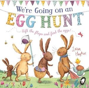 bunnies on easter egg hunt