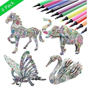 3D coloring puzzle art toy for kids