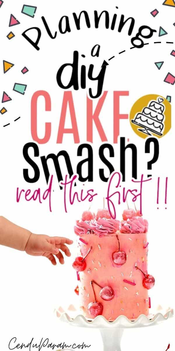 baby reaching for cake during cake smash photos