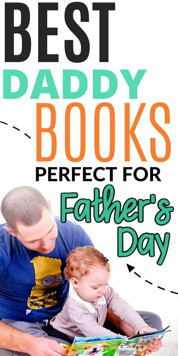 father reading daddy board book to baby