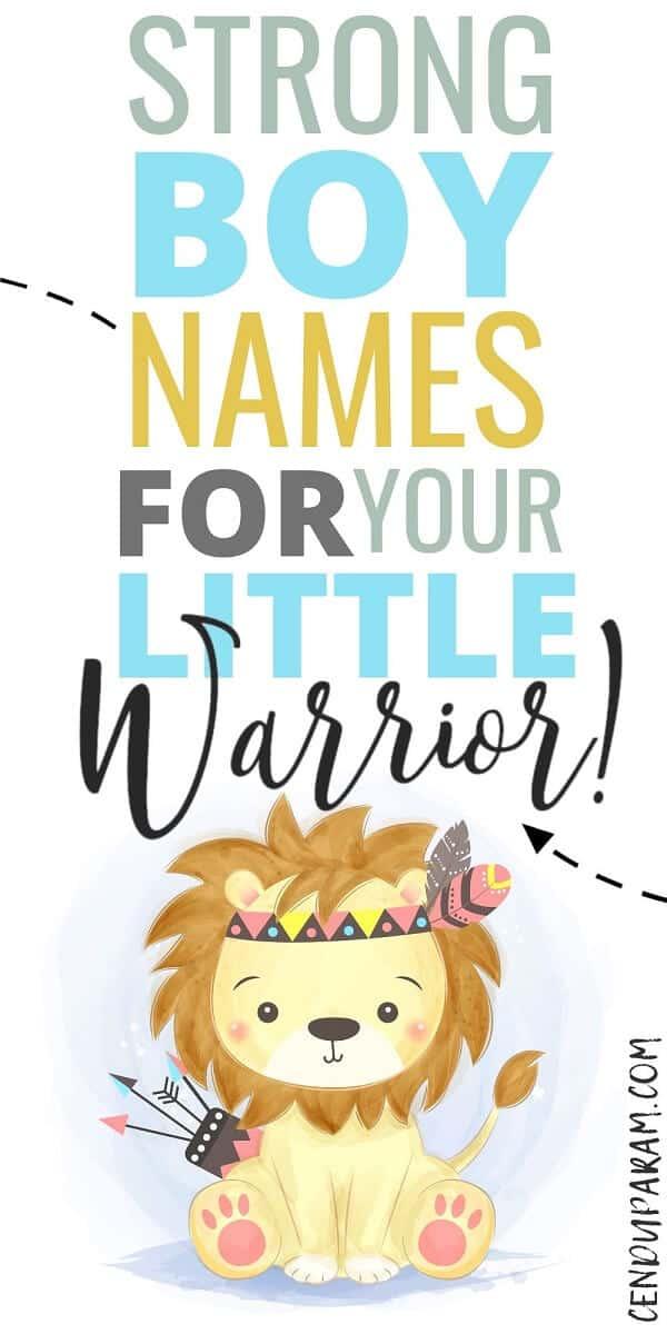 cartoon warrior lion