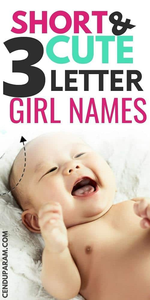Asian baby girl laughing  with title three letter names for girls short and cute