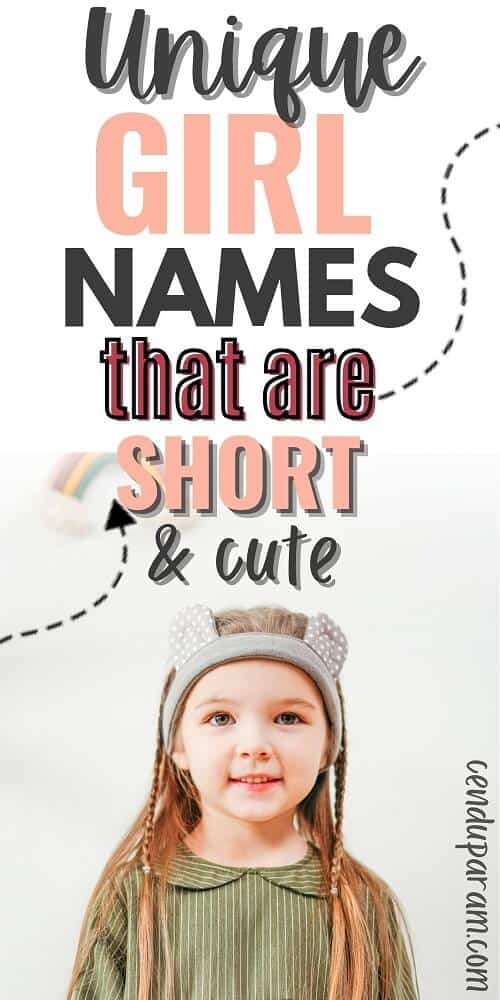 cute girl with a four letter name