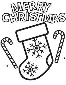 Free Printable Christmas Stocking Coloring Page PDF