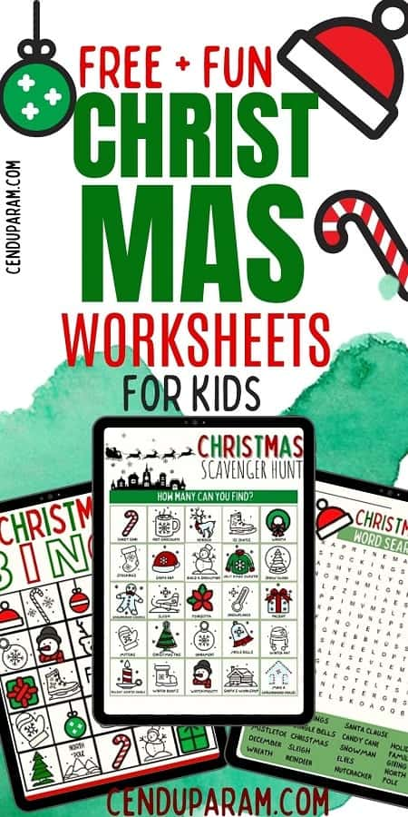Free Christmas Worksheets For Kids Printable Pdf Cenzerely Yours