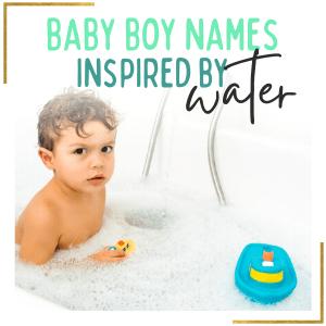baby boy bathing in water