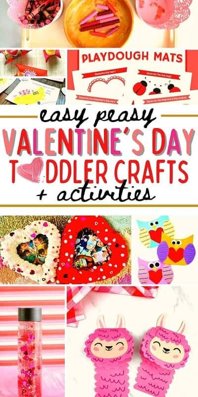round up of easy peasy Valentine's day crafts for kids