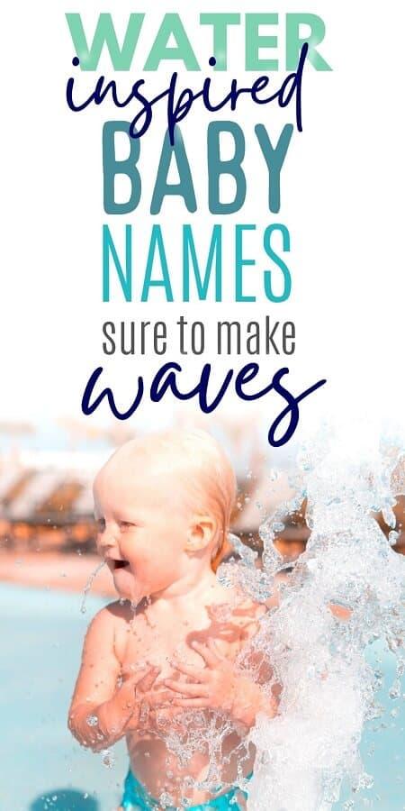 baby boy splashing in water