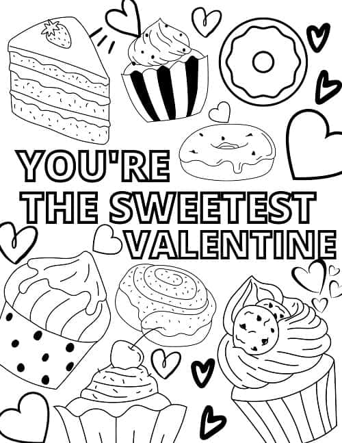 prechool valentine's day coloring pages