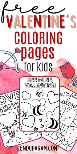 collection of free Valentine's day coloring pages