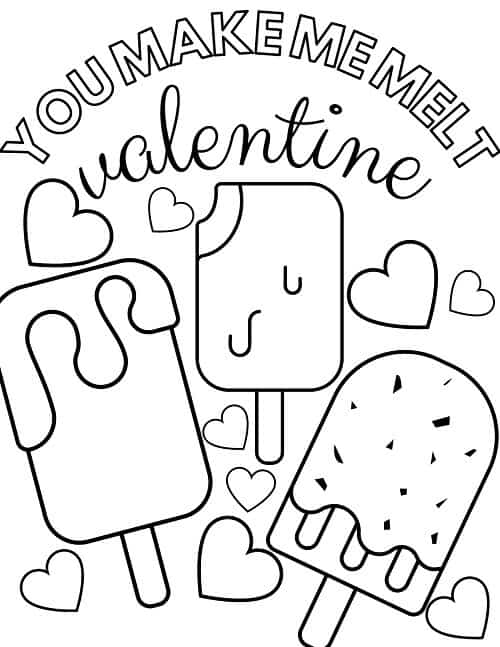 free Valentine's day coloring page preschool