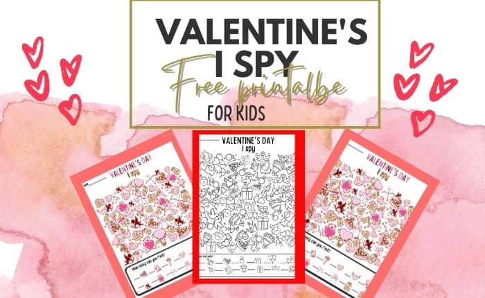 fee printable Valentine's day worksheet pdf
